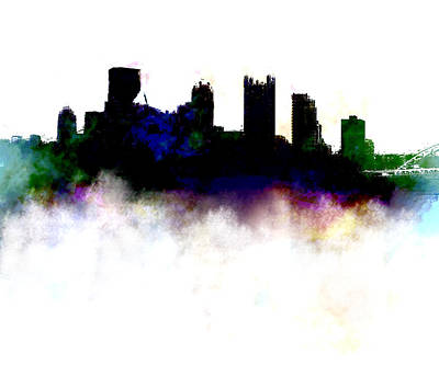 Pittsburgh Skyline Colors Poster