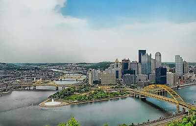 Pittsburgh Skyline Poster by Dyle   Warren