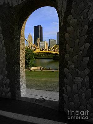 Pittsburgh Skyline, North Shore Arch, Pittsburgh, Pa  Poster by Len-Stanley Yesh