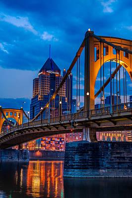 Pittsburgh Skyline Poster by Steven Maxx
