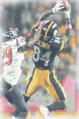 Pittsburgh Steelers Antonio Brown 2 Poster by Joe Hamilton