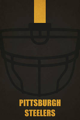 Pittsburgh Steelers Helmet Art Poster by Joe Hamilton