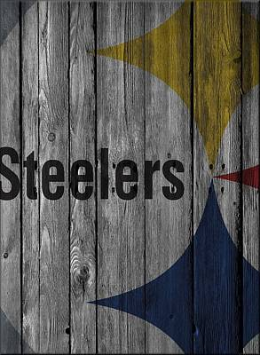Pittsburgh Steelers Wood Fence Poster by Joe Hamilton