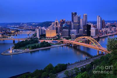 Pittsburgh Summer Skyline Poster