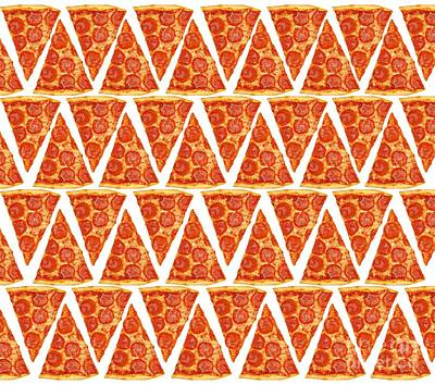 Pizza Slices Poster by Diane Diederich