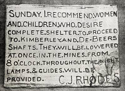 Placard Erected By Cecil Rhodes During Poster by Vintage Design Pics