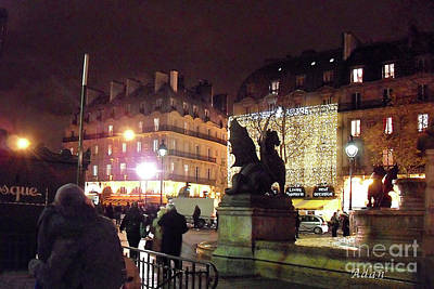 Poster featuring the photograph Place Saint-michel by Felipe Adan Lerma