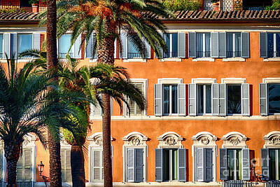 Palm Trees And Windows Poster by George Oze