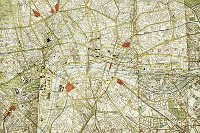 Poster featuring the photograph Plan Of Central London by Patricia Hofmeester