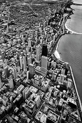 Plane View Of Chicago Poster by Sven Brogren