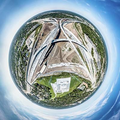 Poster featuring the photograph Planet Under Construction by Randy Scherkenbach