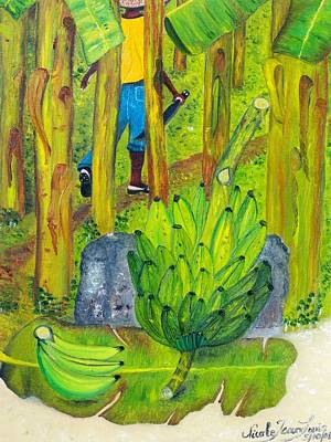 Poster featuring the painting Plantain Farmer's Pride by Nicole Jean-louis