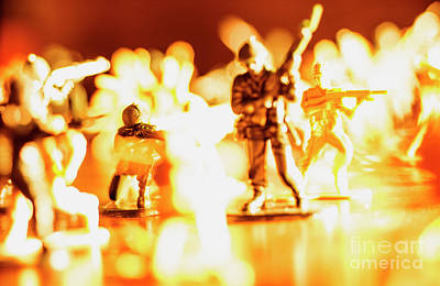 Poster featuring the photograph Plastic Army Men 1 by Micah May