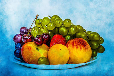Poster featuring the photograph Plate Of Fresh Fruits by Alexander Senin