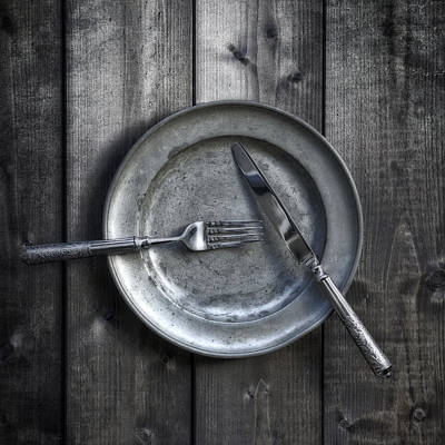 Plate With Silverware Poster