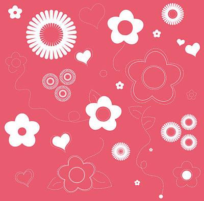 Playful Flower Background Poster