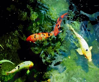 Playful Koi  Poster by Mark Taylor