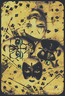 Playing Card Of A Vintage Masquerade Poster by Jorgo Photography - Wall Art Gallery