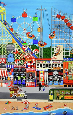 Playland In The Afterlife Poster by Evangelina Portillo