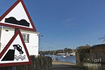 Please Drive Carefully In Mylor Bridge Poster by Terri Waters