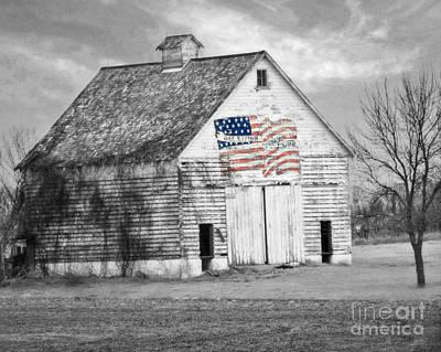 Pledge Of Allegiance Crib Poster by Kathy M Krause