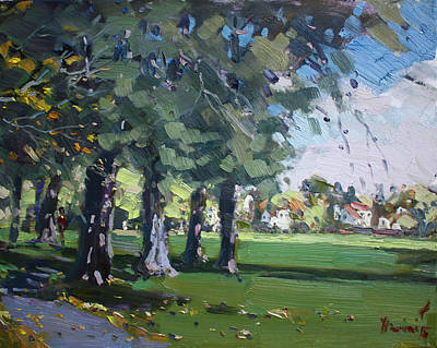 Plein Air At Jayne Park In Cayuga Island  Poster