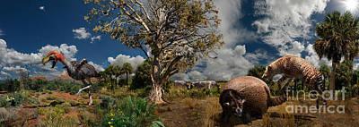 Pliocene - Pleistocene Mural 1 Poster