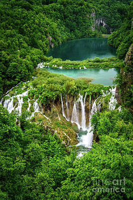 Plitvice Lakes National Park - A Heavenly Crystal Clear Waterfall Vista, Croatia Poster