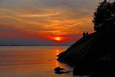 Plum Cove Sunset Poster by AnnaJanessa PhotoArt