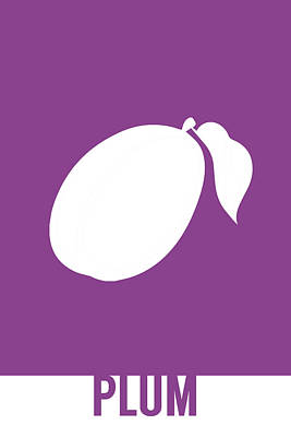 Plum Food Art Minimalist Fruit Poster Series 014 Poster by Design Turnpike