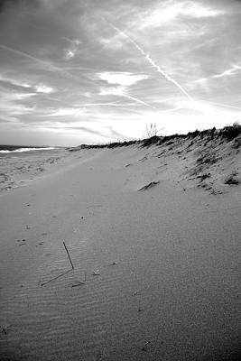 Plum Island Black And White Poster