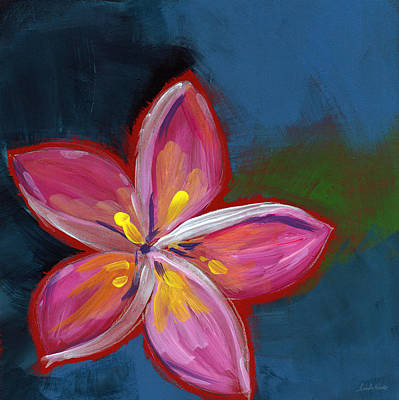 Plumeria- Art By Linda Woods Poster
