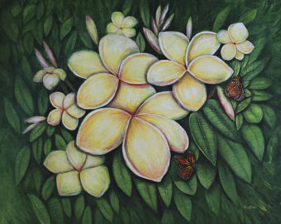Poster featuring the painting Plumeria by Lynn Buettner