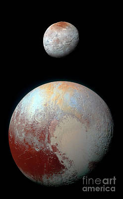 Poster featuring the photograph Pluto And Charon by Nicholas Burningham