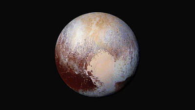 Pluto Dazzles In False Color Poster by Nasa