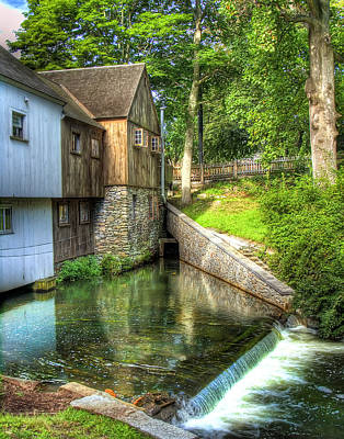 Plymouth Grist Mill Poster by Tammy Wetzel