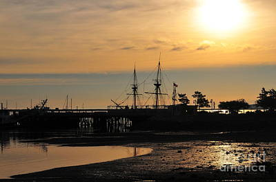 Plymouth Harbor Sunrise Poster
