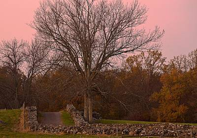 Pocantico Trail Novemer Dusk Poster by Bedford Shore Photography