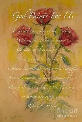 Poetica De Rosas Poster by Karen Francis