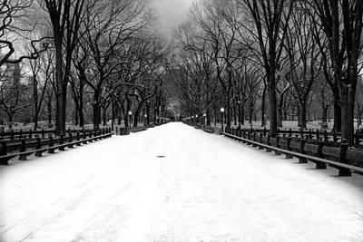 Poet's Walk In Snow Poster