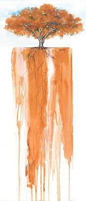 Poinciana Tree Orange Poster by Anthony Burks Sr