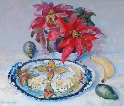 Poinsettia And Ardmore Dish Poster