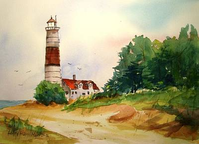 Point Betsie Lighthouse Michigan Poster by Larry Hamilton