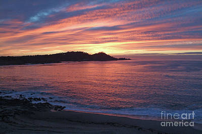 Point Lobos Red Sunset Poster