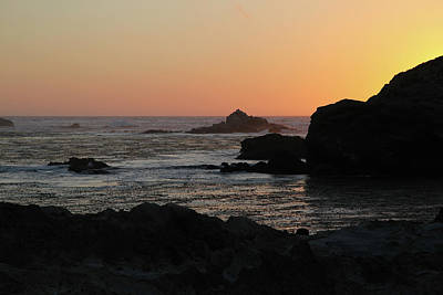 Point Lobos Sunset Poster