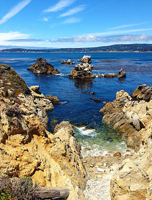 Point Lobos Whalers Cove- Seascape Art Poster by Kathy  Symonds