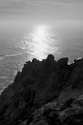 Point Reyes Seascape I Bw Poster by David Gordon