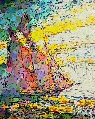 Pointillist Schooner Poster by John Malone