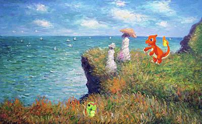 Poster featuring the digital art Pokemonet Seaside by Greg Sharpe