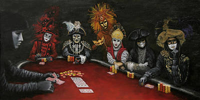 Poster featuring the painting Poker Face II by Jason Marsh